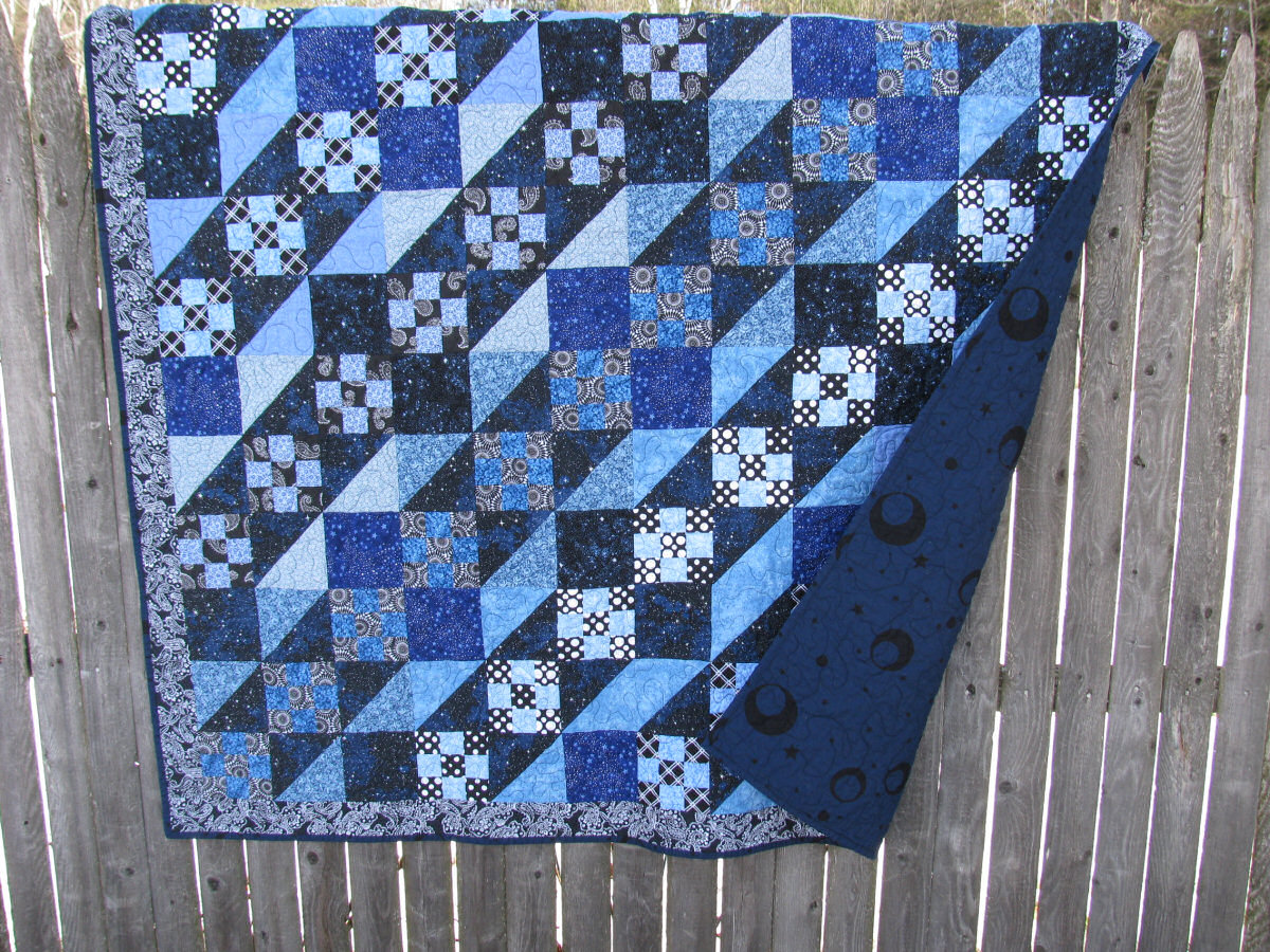 Starry, Starry Night Lap Quilt